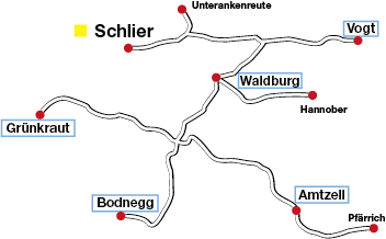 Einsatzorte Sozialstation Schlier
