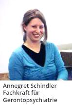 Frau Annegret Schindler der Sozialstation St. Martin